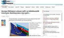 Avropa İttifaqının xüsusi sülh və təhlükəsizlik missiyası Azərbaycana niyə gəlir...
